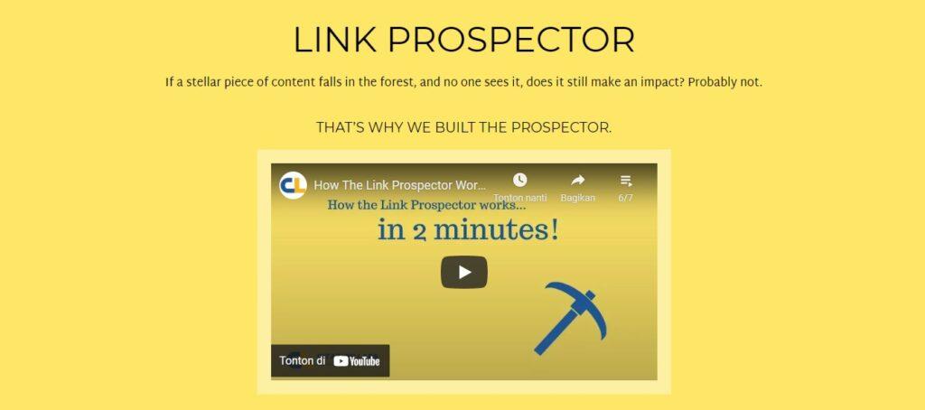 Link Prospector sebagai Backlink Checker Andalan